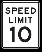 Speed limit is 10mph