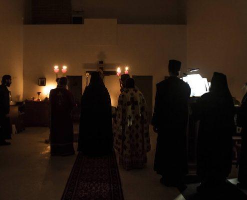 Divine services a Saint John's Monastery