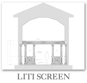 New church design - Liti screen