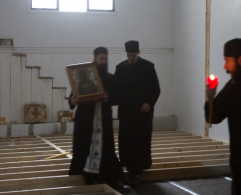 Procession ith Saint Nicholas Myrrh Streaming Icon