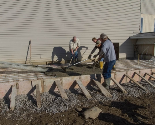 Moving the heavy concrete