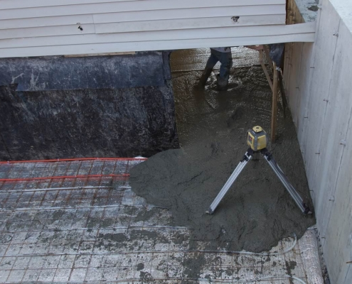 Leveling out slab