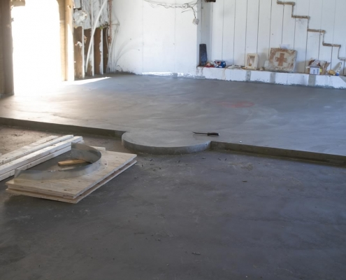 Main church floor poured
