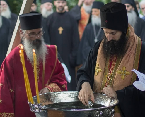 Blessing with relics