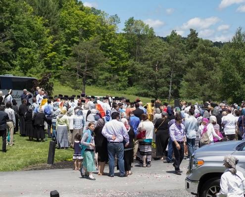 Many pilgrims shared this joyous event