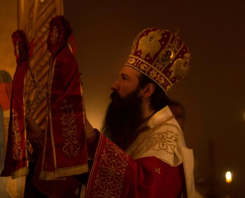 Metropolitan Demetrius blessing the faithful